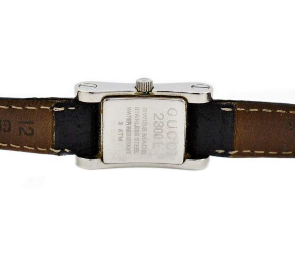 womens Vintage Gucci 2300L Stainless Steel Ladies Quartz Watch