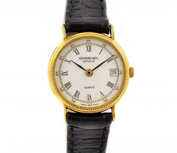 Vintage Raymond Weil Geneve 5314 Gold Plated Quartz Ladies Watch swiss