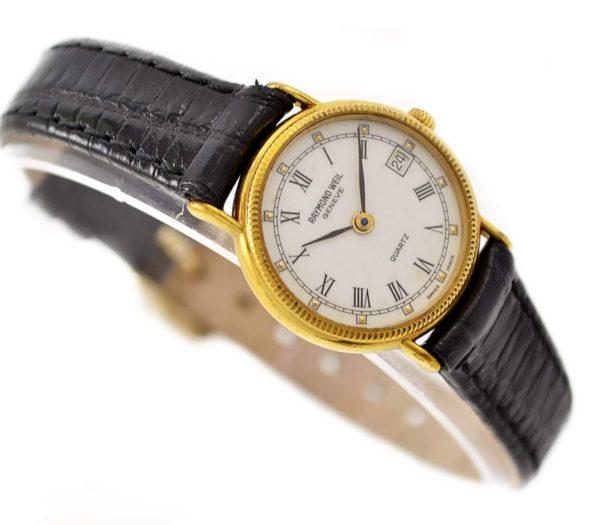 Vintage Raymond Weil Geneve 5314 Gold Plated Quartz Ladies Watch retro