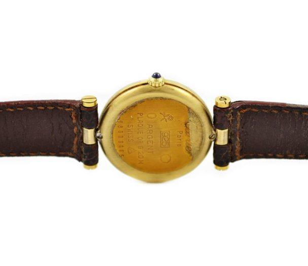 Vintage Must De Cartier Vermeil Quartz 925 Gold Plated Ladies Watch time piece