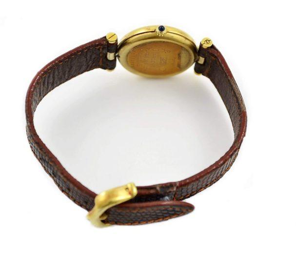 Vintage Must De Cartier Vermeil Quartz 925 Gold Plated Ladies Watch swiss