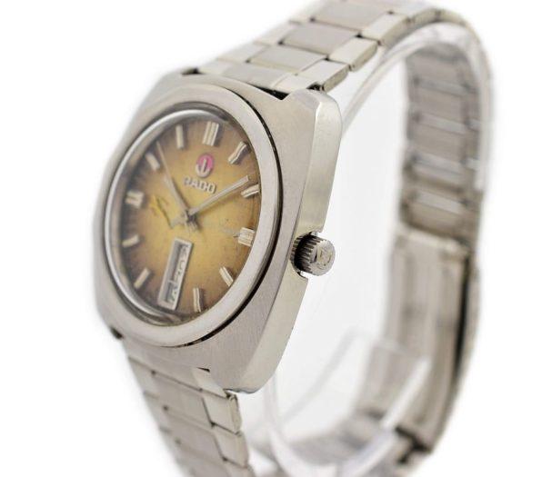 Pre-owned Rado Amber Gazelle Day/Date Automatic Men's Watch 12126 man