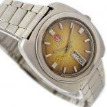 Pre-owned Rado Amber Gazelle Day/Date Automatic Men's Watch 12126 swiss
