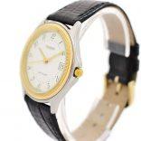 Pre-Owned Tissot Stylist Date Quartz Midsize Watch N580 leather