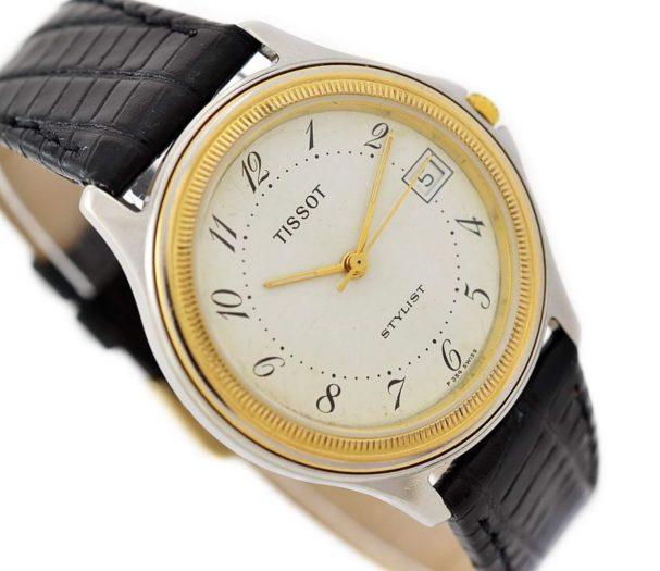 Pre-Owned Tissot Stylist Date Quartz Midsize Watch N580 mens