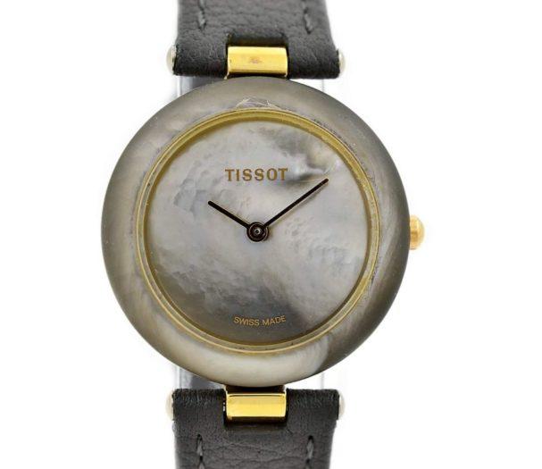 Vintage Tissot Rock Watch R150 Mother of Pearl Granite Quartz Midsize Watch gold