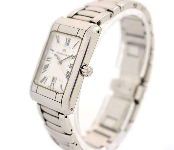 Vintage Maurice Lacroix 79745 Stainless Steel Quartz Ladies Watch womens