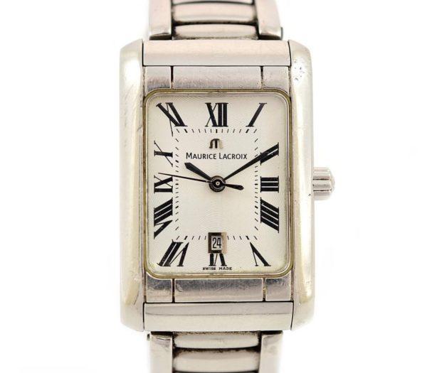 Vintage Maurice Lacroix 79745 Stainless Steel Quartz Ladies Watch roman numerals