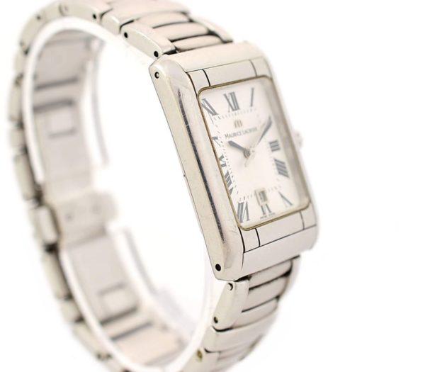 Vintage Maurice Lacroix 79745 Stainless Steel Quartz Ladies Watch 1990