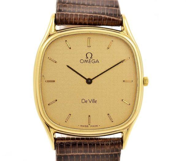Pre-Owned Omega De Ville Longchamp Cal.1377 Quartz Midsize Watch MD 191.0199 leather