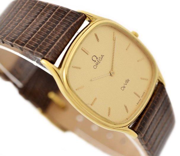 Pre-Owned Omega De Ville Longchamp Cal.1377 Quartz Midsize Watch MD 191.0199 gold