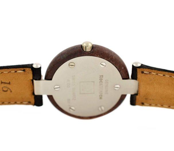 Vintage Tissot Rock Watch R150 Brown Granite Quartz Midsize Watch #957-7 steel