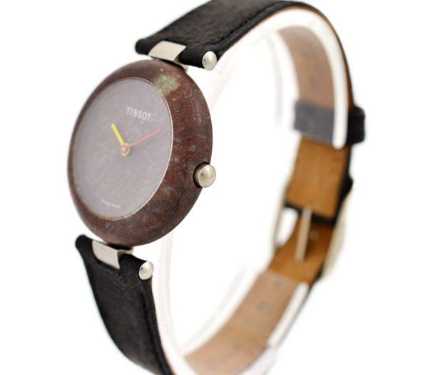 Vintage Tissot Rock Watch R150 Brown Granite Quartz Midsize Watch #957-7 swiss