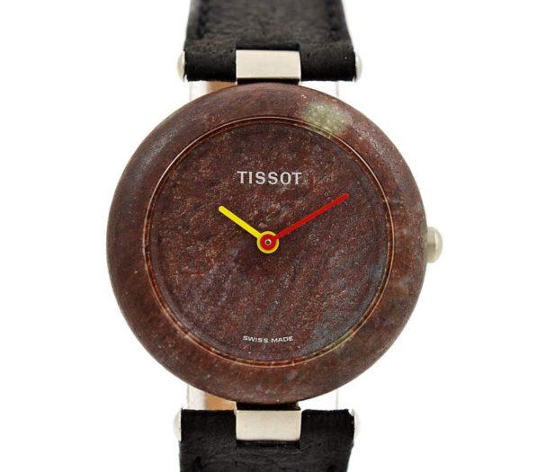 Vintage Tissot Rock Watch R150 Brown Granite Quartz Midsize Watch #957-7 1980