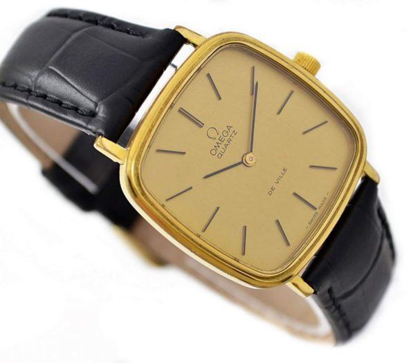 Pre-Owned Vintage Omega De Ville Cal.1280 Quartz Gold Plated Midsize Watch 191.0045 gold