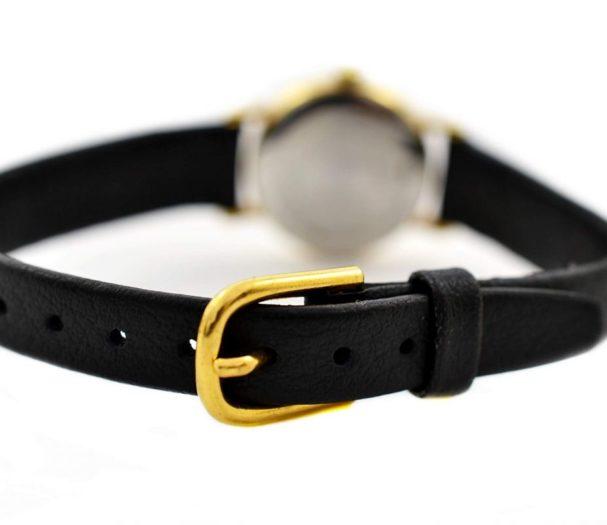 Vintage Longines Presence L.153.4 Gold Plated Ladies Quartz Watch leather