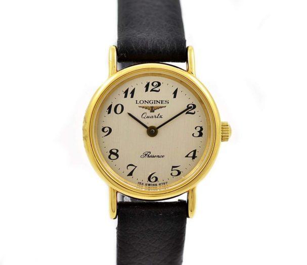 Vintage Longines Presence L.153.4 Gold Plated Ladies Quartz Watch 1990