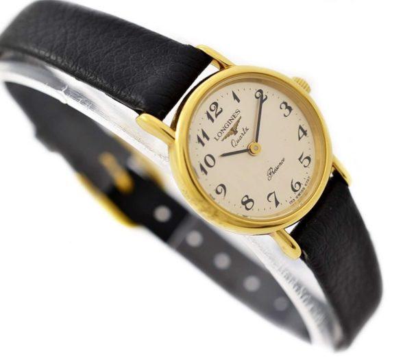 Vintage Longines Presence L.153.4 Gold Plated Ladies Quartz Watch steel