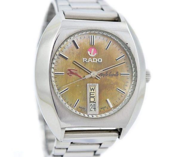 Pre-owned Rado Purple Gazelle Day/Date Automatic Men's Watch 625.7913.4 vintage