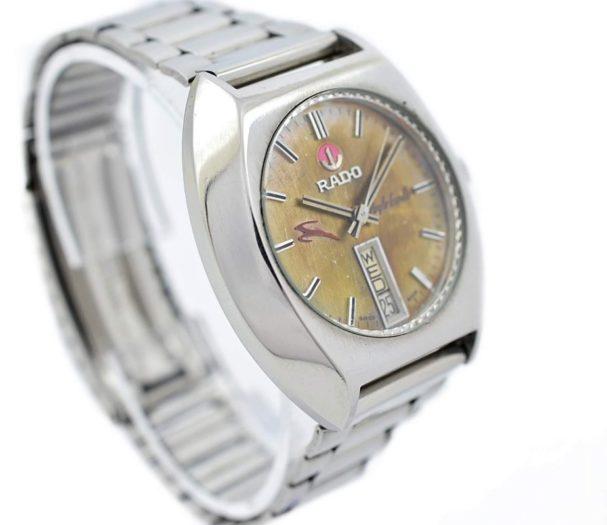 Pre-owned Rado Purple Gazelle Day/Date Automatic Men's Watch 625.7913.4 1970