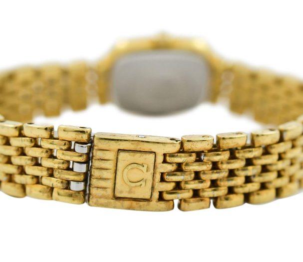 Vintage Omega De Ville Gold Plated Quartz Ladies Petite Watch steel