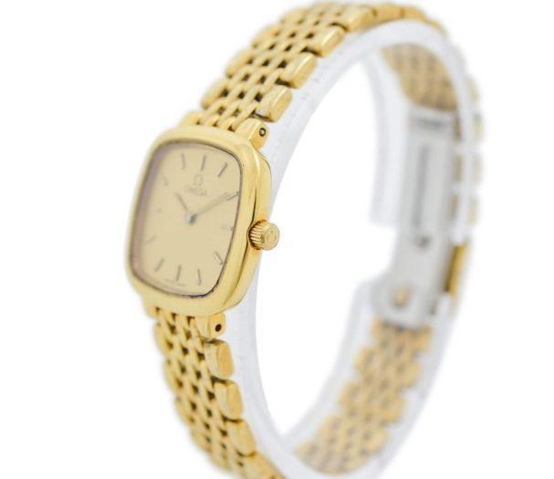 Vintage Omega De Ville Gold Plated Quartz Ladies Petite Watch original