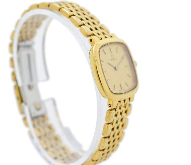 Vintage Omega De Ville Gold Plated Quartz Ladies Petite Watch womens