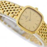 Vintage Omega De Ville Gold Plated Quartz Ladies Petite Watch swiss