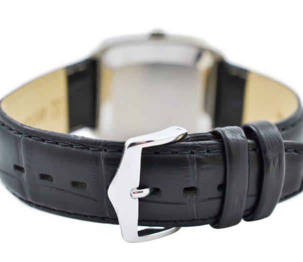 Vintage Omega De Ville Cal.1325 Stainless Steel Quartz Mens Watch leather