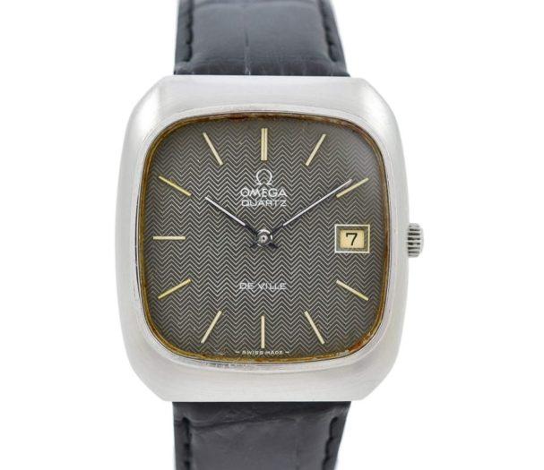 Vintage Omega De Ville Cal.1325 Stainless Steel Quartz Mens Watch swiss