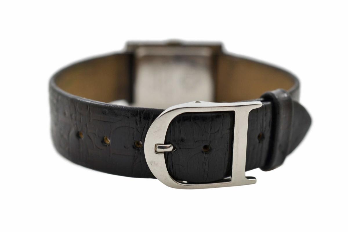 Vintage Christian Dior D78-109 Stainless Steel Ladies Quartz Watch leather