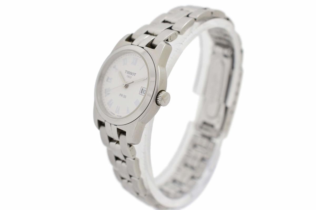 Pre-Owned Tissot PR50 J326/426 Stainless Steel Quartz Ladies Watch womens