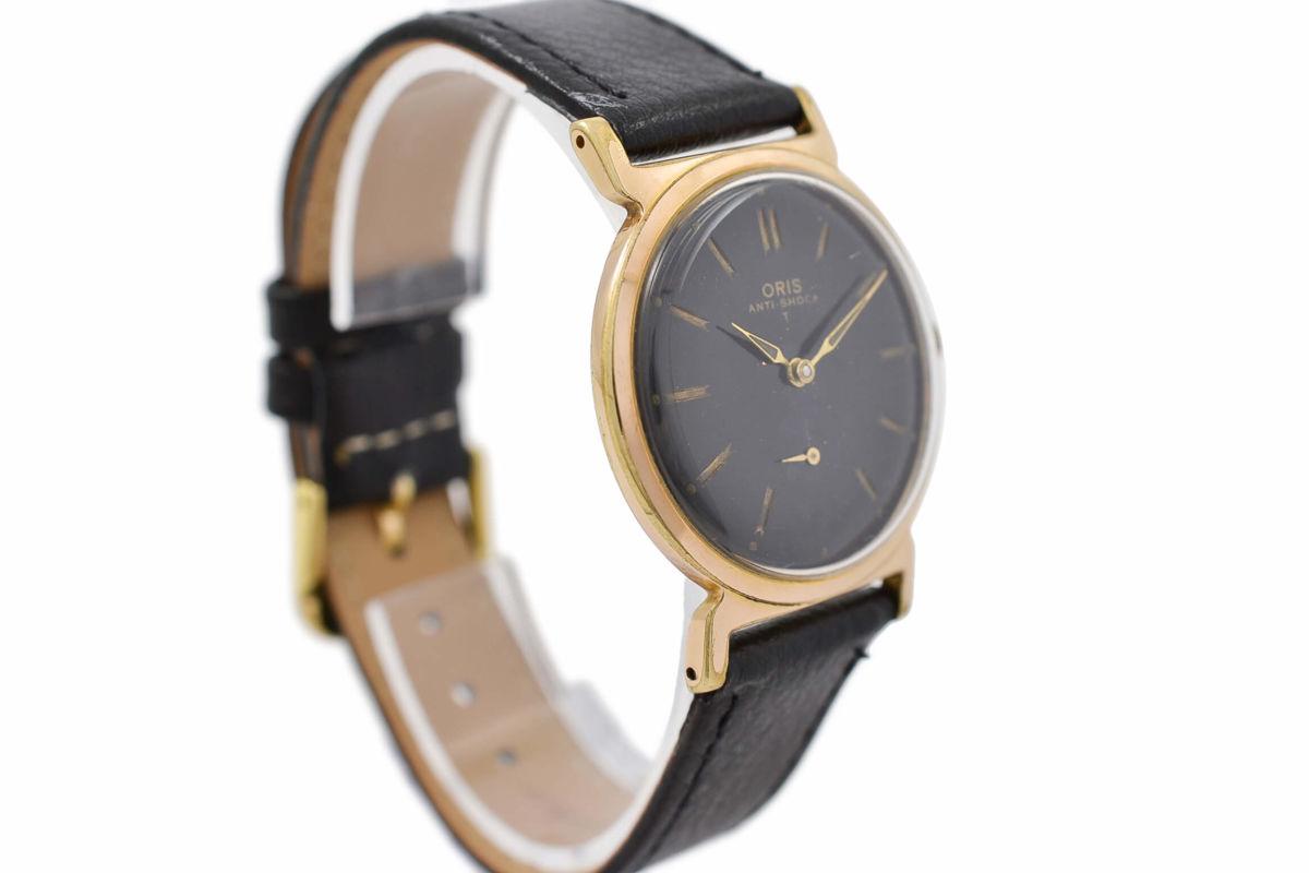 Vintage Oris Anti-Shock T Gold Plated Manual Wind Midsize Watch 1970