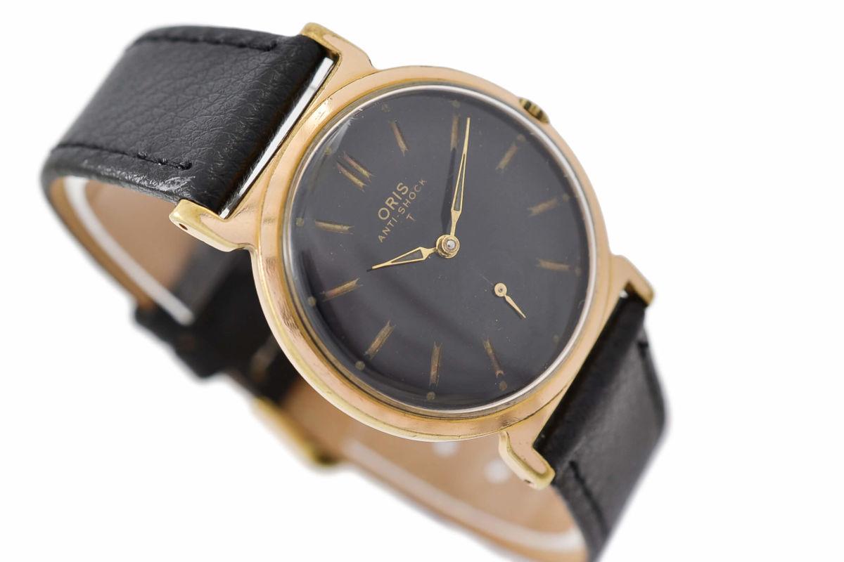Vintage Oris Anti-Shock T Gold Plated Manual Wind Midsize Watch retro