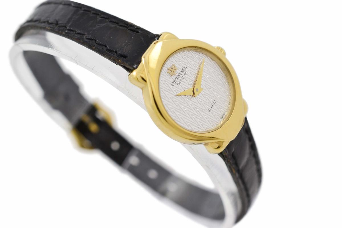 Vintage Raymond Weil Geneve 5827 Gold Plated Quartz Ladies Watch 1990