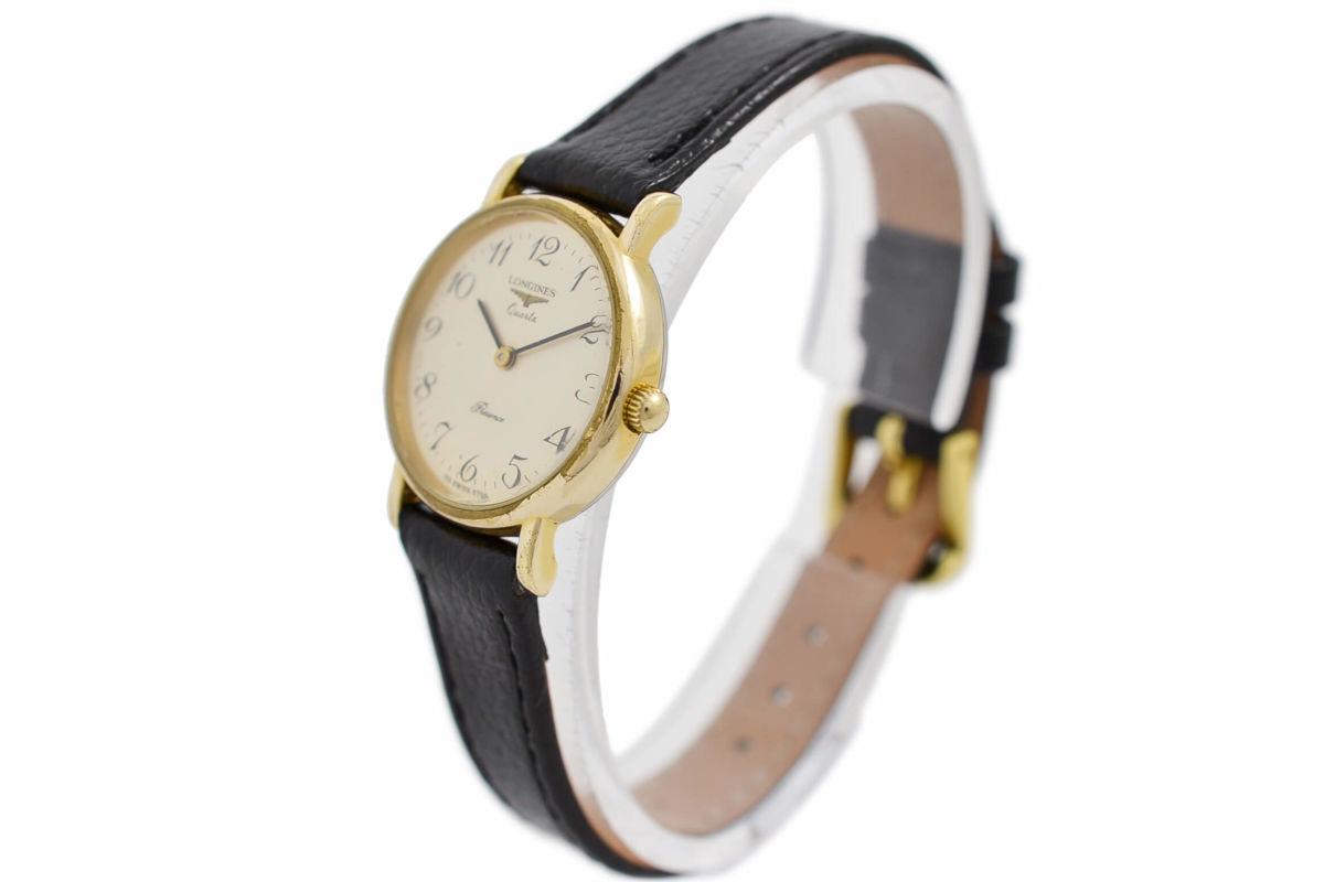 Vintage Longines Presence Gold Plated Ladies Quartz Watch leather