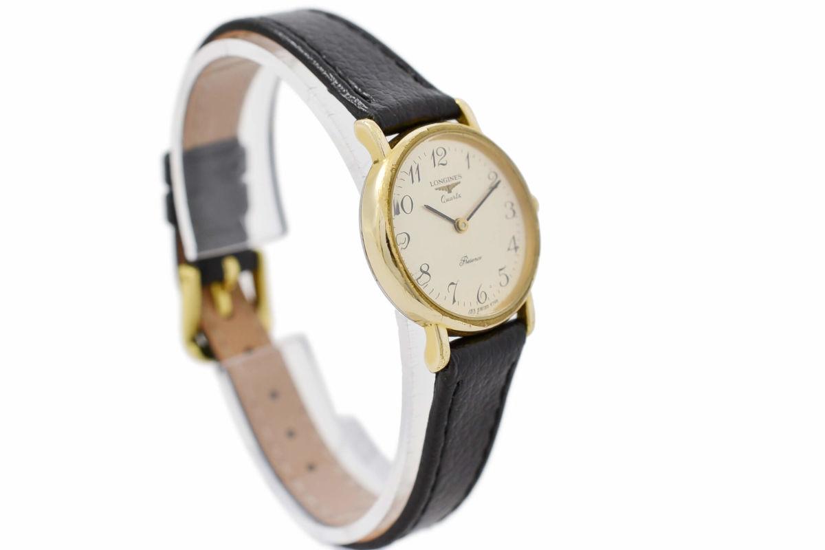Vintage Longines Presence Gold Plated Ladies Quartz Watch steel