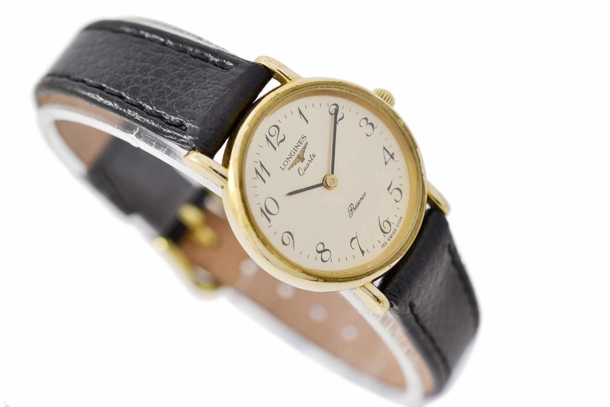 Vintage Longines Presence Gold Plated Ladies Quartz Watch womens