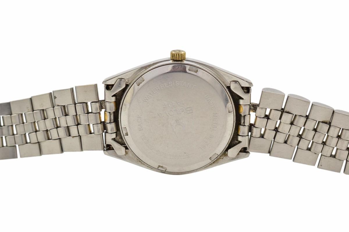 Vintage Bulova Calendar Quartz Stainless Steel Ladies Watch