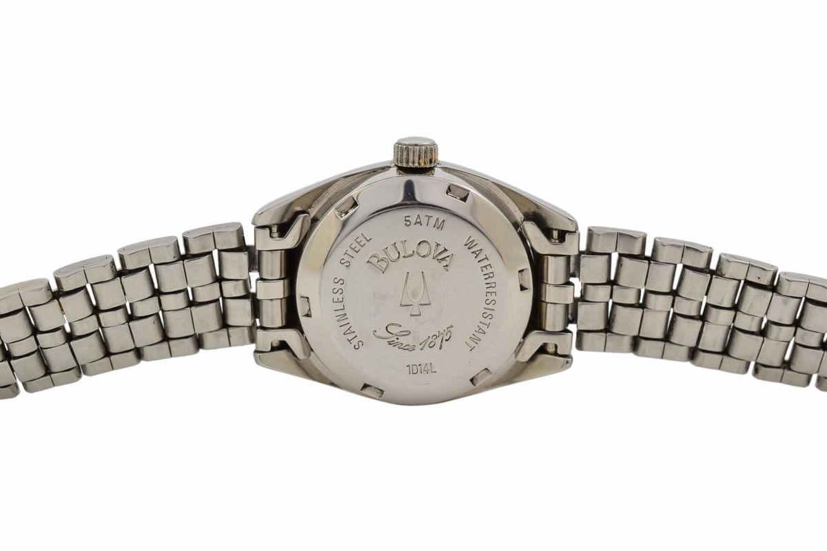 Vintage Bulova 1D14L Automatic 25 Jewels Steel Ladies Watch