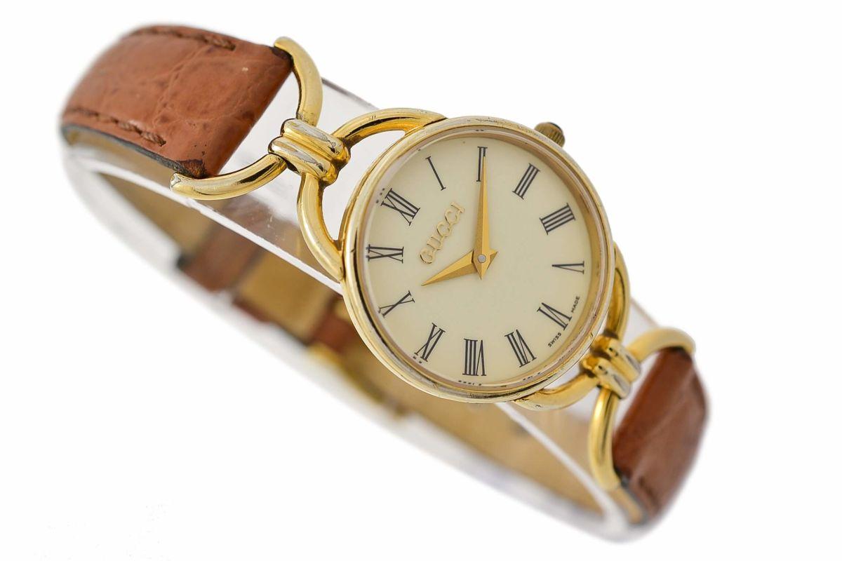 Vintage Gucci 6000.2.L Gold Plated Quartz Ladies Watch
