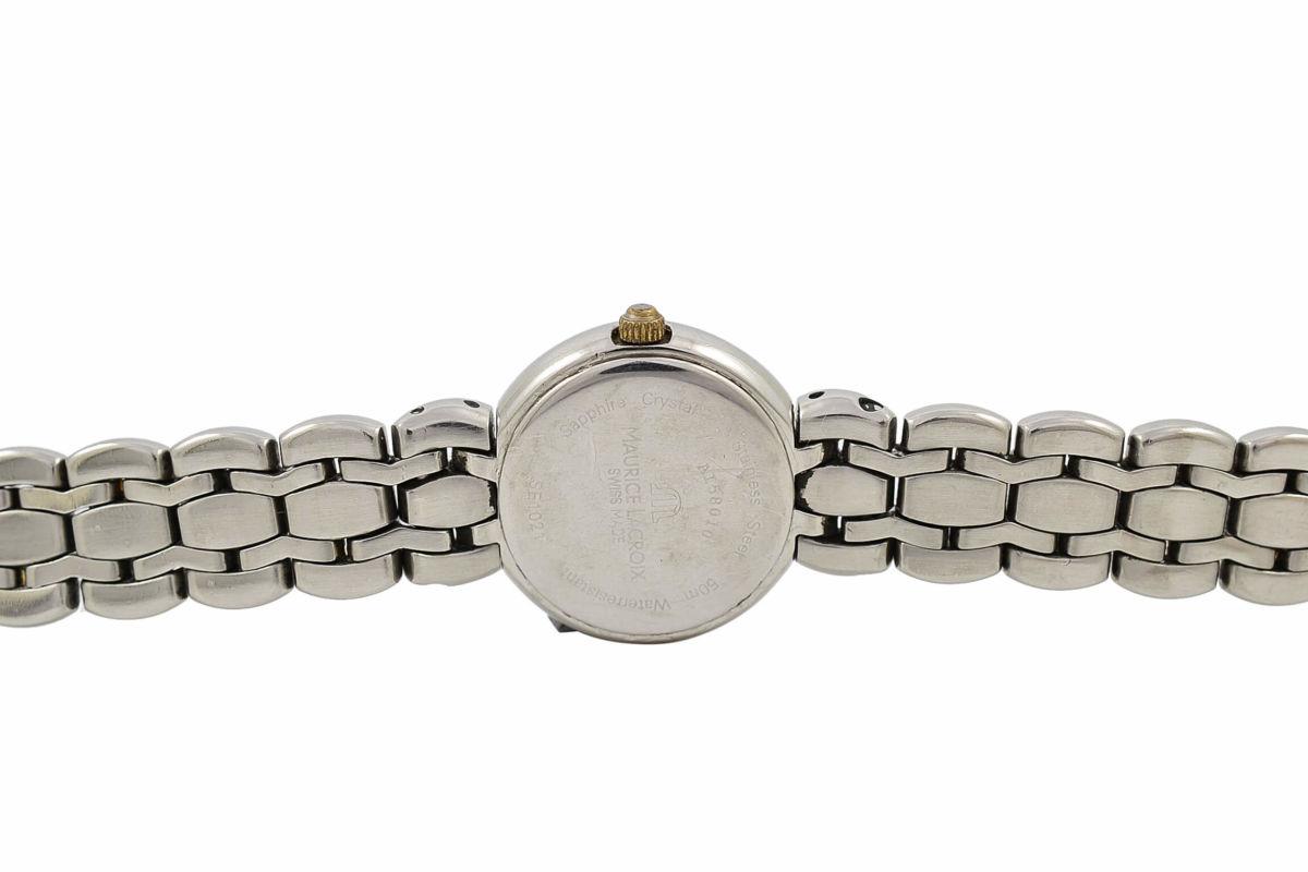 Vintage Maurice Lacroix Selena SE1021 Bi-Metal Steel Quartz Ladies Watch