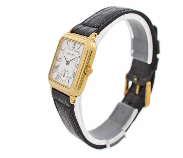 Vintage Hamilton 6188 Gold Plated Quartz Midsize Watch 1806