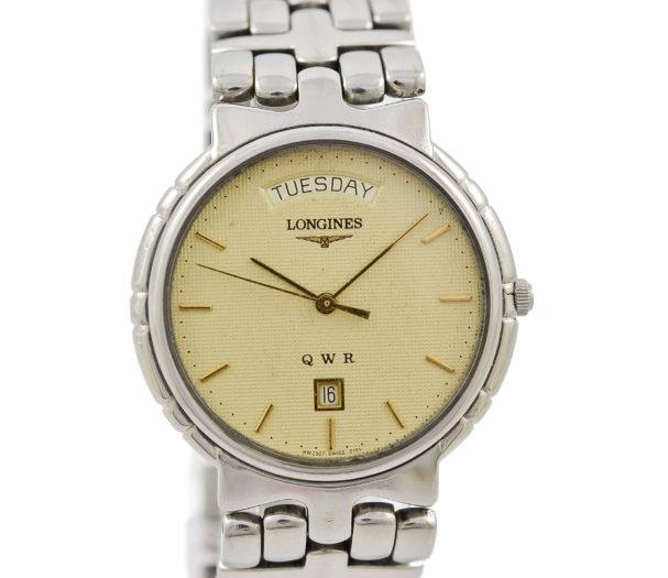 Vintage Longines QWR Quartz Stainless Steel Midsize Watch
