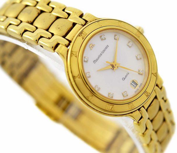 Vintage Maurice Lacroix 75416 Gold Plated Quartz Ladies Watch