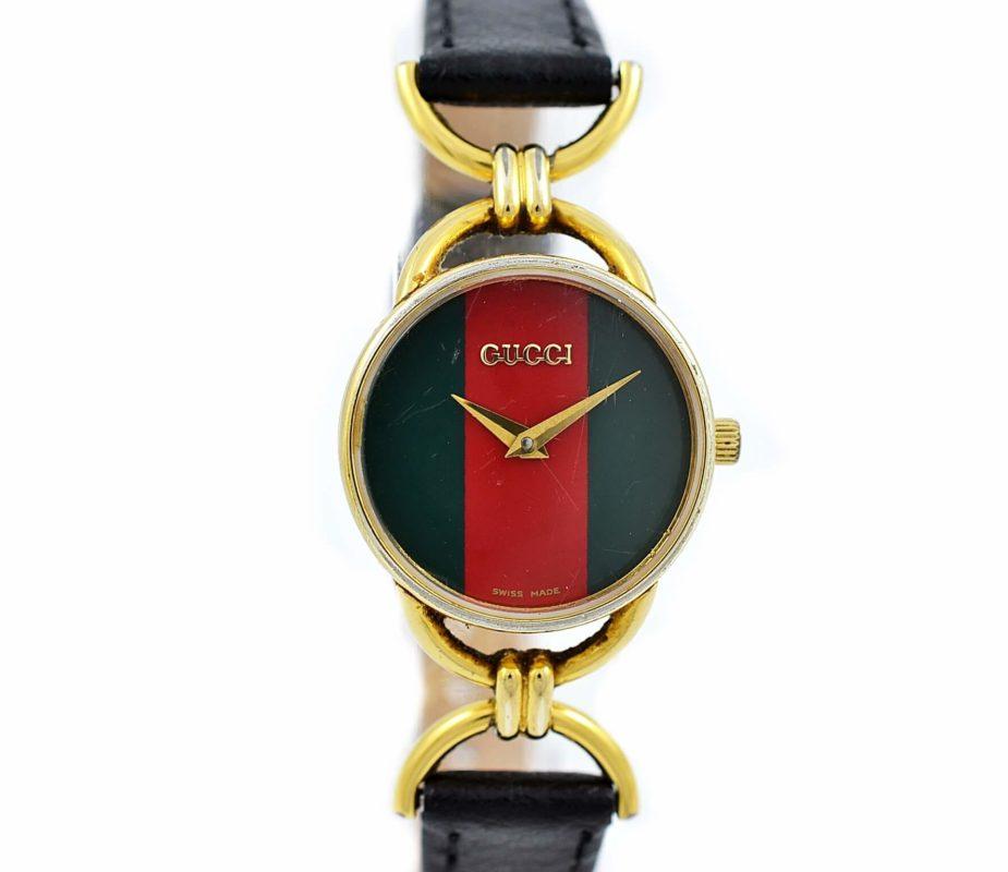 73ece178b L Gold Plated Womens Quartz Watch. Gucci 6000.2.L Roman Numeral Dial
