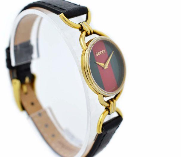 Vintage Gucci 6000.2.L Gold Plated Womens Quartz Watch