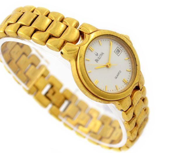 Vintage Bulova Classic Quartz Gold Plated Ladies Petite Watch