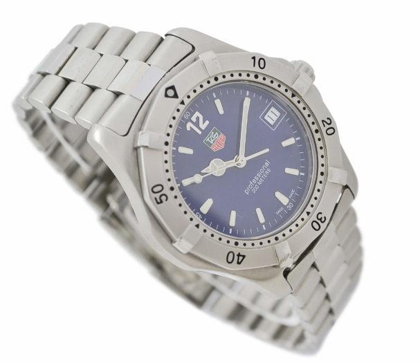 Vintage Tag Heuer 2000 Series WK1113-1 Quartz Stainless Steel Gents Watch