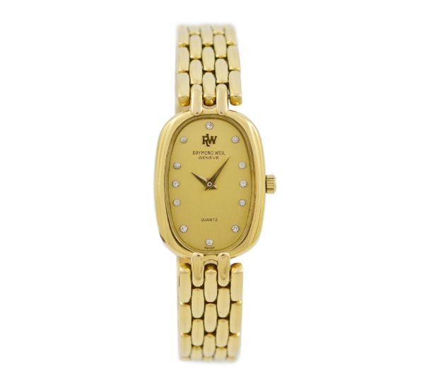 Vintage Raymond Weil Geneve 5807 Gold Plated Ladies Quartz Watch